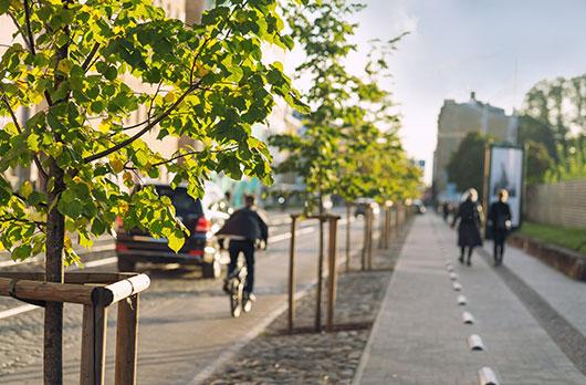 City bike lane