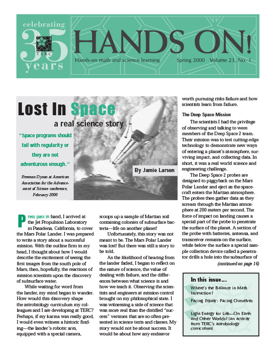 Hands On! Magazine: Spring 2000