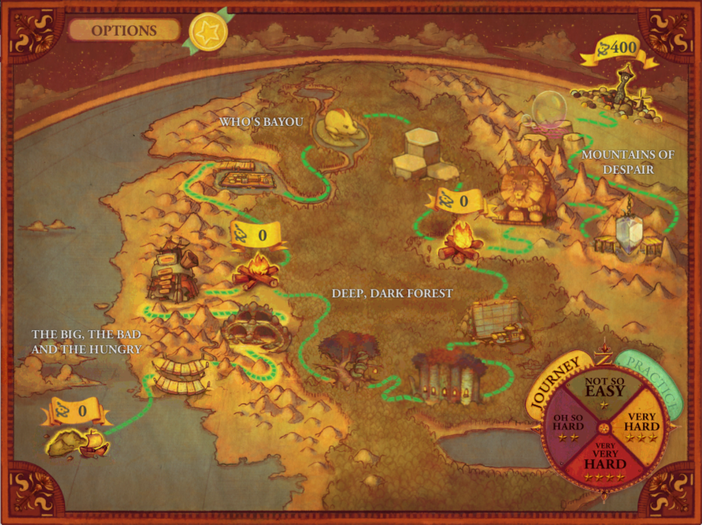 Zoombinis Finisher Map Image